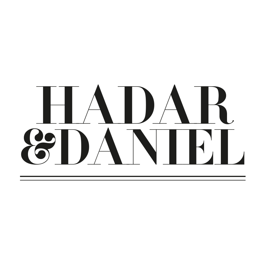 hadar and daniel logo design by mili and sara מילי ושרה
