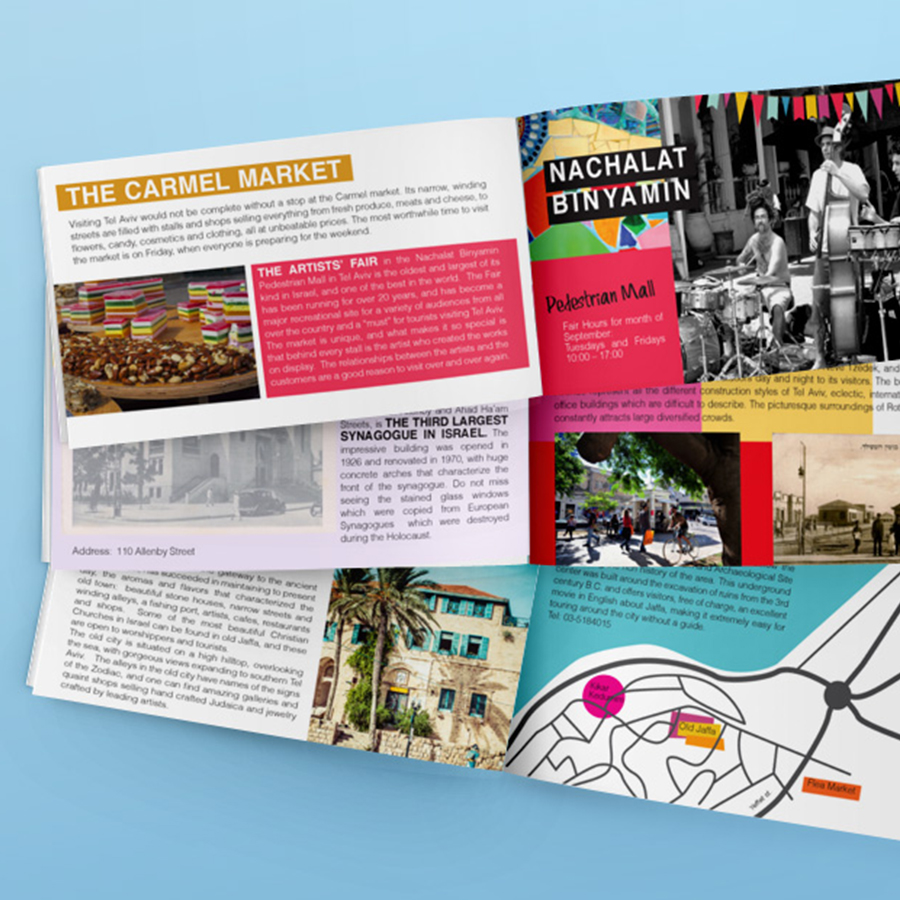 tel aviv booklet by mili and sara