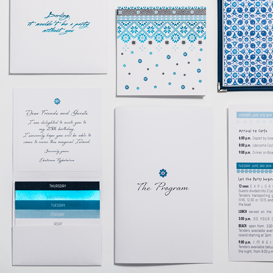 greek style invitation and inserts by mili and sara